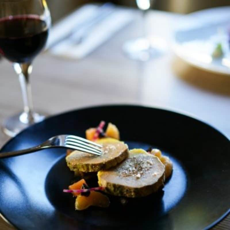 Foie gras de canard au restaurant la couleuvrine à Sarlat