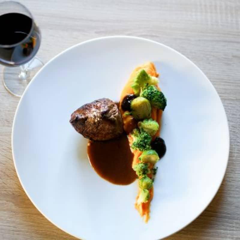 Plat au restaurant la couleuvrine à Sarlat en Dordogne